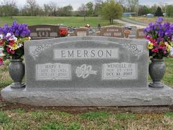 Mary Frances <I>Mathis</I> Emerson