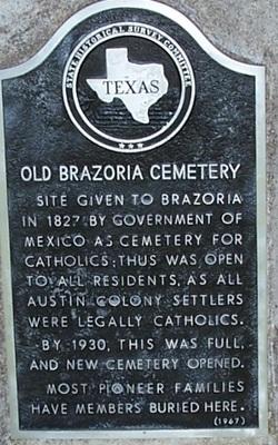 Old Brazoria Cemetery