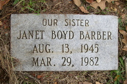 Janet <I>Boyd</I> Barber