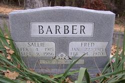 Sallie <I>Fortner</I> Barber