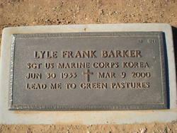 Sgt Lyle Frank Barker