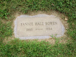 Fannie <I>Hall</I> Bowen