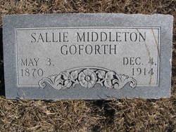 Sally <I>Middleton</I> Goforth