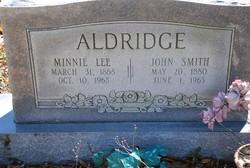Minnie Lee <I>Lewis</I> Aldridge