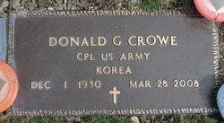 Donald G Crowe