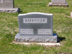Alice V. <I>Kussman</I> Barringer