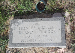 Frances Mozelle <I>DeLaney</I> Ethridge