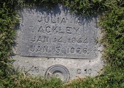 Julia <I>Atkinson</I> Ackley