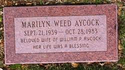 Marilyn <I>Weed</I> Aycock