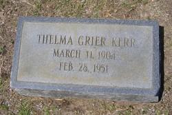 Thelma <I>Grier</I> Kerr