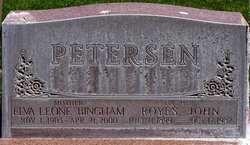 Elva Leone <I>Bingham</I> Petersen