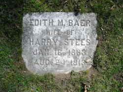 Edith M <I>Baer</I> Stees