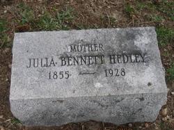 Julia Ann <I>Bennett</I> Hedley