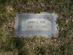 Anna Elizabeth <I>Jones</I> Eck