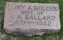Mary Ann <I>Golden</I> Ballard