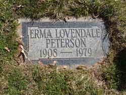 Erma <I>Lovendale</I> Peterson