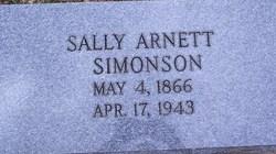 """Sara Irene """"Sally"""" <I>Arnett</I> Simonson"""