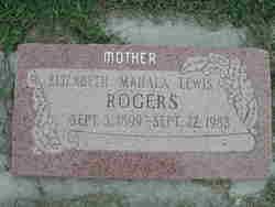 Elizabeth Mahala <I>Lewis</I> Rogers