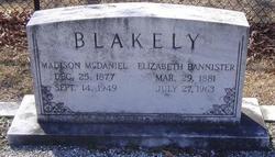 Elizabeth <I>Bannister</I> Blakely