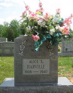 Alice <I>Sims</I> Harville