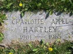 Charlotte <I>Appel</I> Hartley