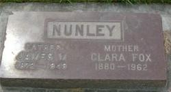 Clara <I>Fox</I> Nunley