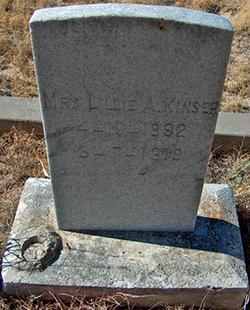 Lillie Altha <I>Brown</I> Kinser