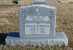 Ethalia E <I>Bagwell</I> Horton