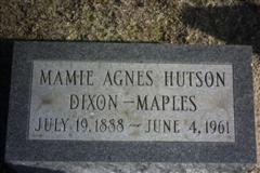 Mamie Agnes <I>Hutson</I> Dixon-Maples