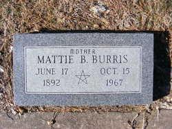 Mattie Belle <I>Henry</I> Burris