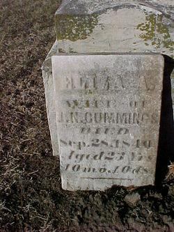 Eliza A <I>Wood</I> Cummings