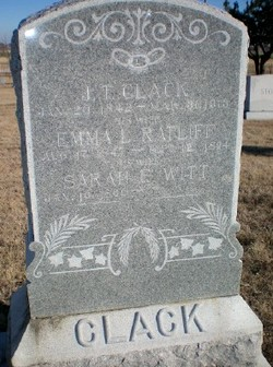 Sarah F. <I>Witt</I> Clack