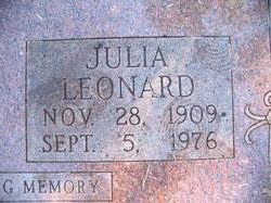 Julia Leonard Bonds