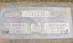 Alice Ann <I>Workman</I> Steed