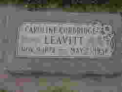 Caroline <I>Corbridge</I> Leavitt