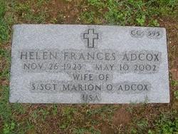 Helen Frances <I>Sawyer</I> Adcox