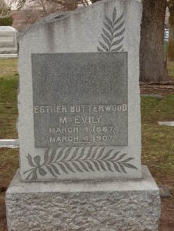 Esther <I>Butterwood</I> McEvily