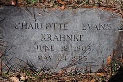 Charlotte V. <I>Evans</I> Krahnke