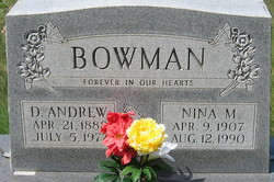 Nina Mae <I>Monger</I> Bowman