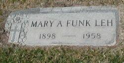 Mary Ann <I>Funk</I> Leh