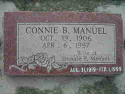 """Constance """"Connie"""" <I>Bernhisel</I> Manuel"""