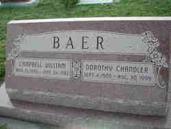 """Campbell William """"Cab"""" Baer"""