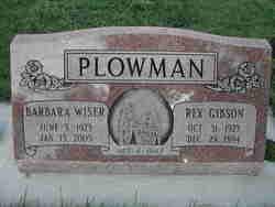 Rex Gibson Plowman