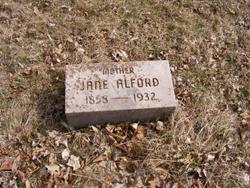 Jane <I>Weston</I> Alford