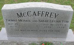 Sarah Lillian <I>Tubb</I> McCaffrey