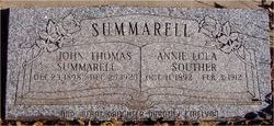 Annie Lola <I>Summarell</I> Souther