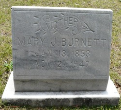 Mary Jane <I>Graves</I> Burnett
