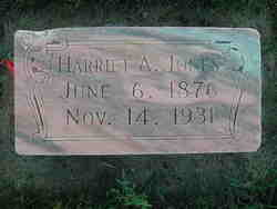 Harriet Ann <I>Hill</I> Jones
