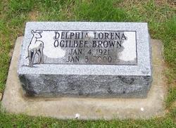 "Delphia Lorena ""Deb"" <I>Ogilbee</I> Brown"