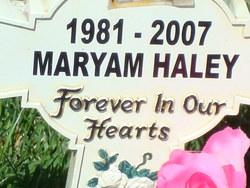 Maryam Irene Haley